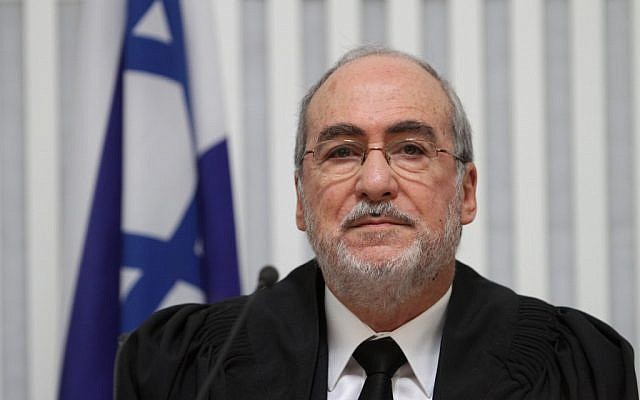 President of the Supreme Court, Asher Grunis (photo credit: Alex Kolomoisky/Flash90)
