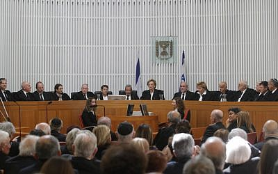 Israel's High Court, one place where smartphones and tablets are generally unwelcome (photo credit: Alex Kolomoisky/Flash90)