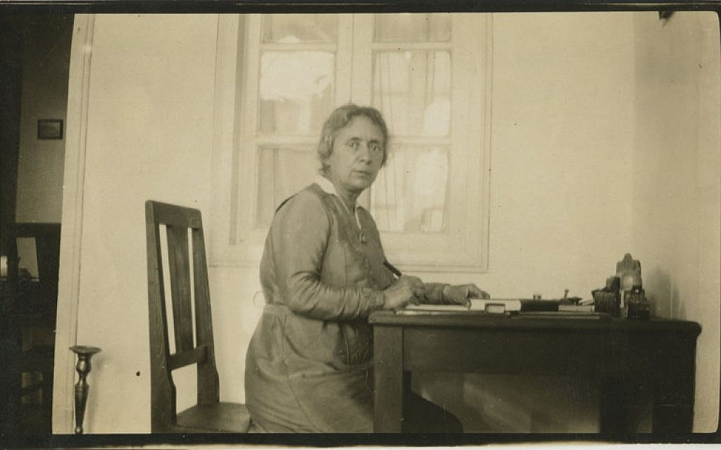 Henrietta Szold at home in Jerusalem. (photo credit: Wikimedia Commons)