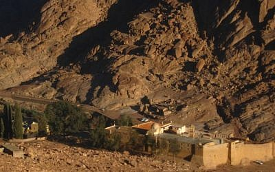 St. Catherine's Monastery in the Sinai Peninsula. (photo credit: Times of Israel staff)