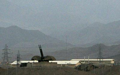 Illustrative photo of an Iranian air defense system at Natanz in 2007 (AP/Hasan Sarbakhshian, File)