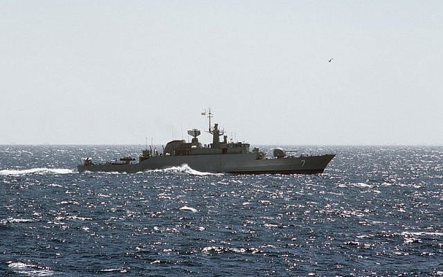 Illustrative photo of an Iranian warship (Alex Hicks, Wikimedia Commons)