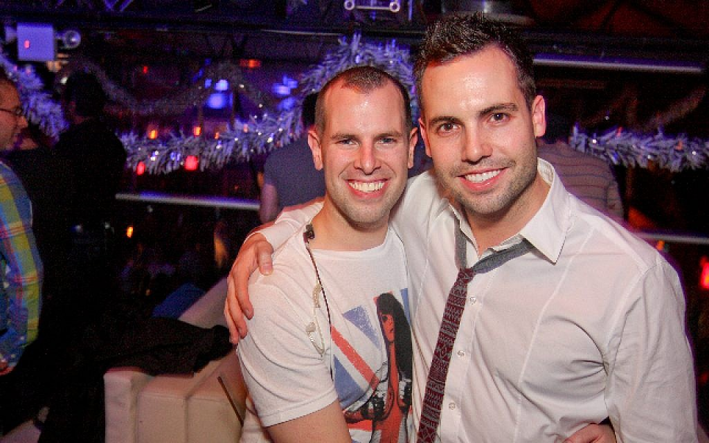 Jayson Littman (left) on the town. (Photo credit: Courtesy)