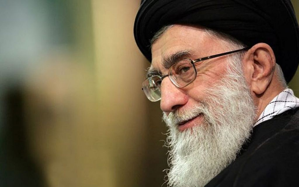 Iranian Supreme Leader Ayatollah Ali Khamenei (photo credit: CC-BY Wikipedia/sajed.ir/File)