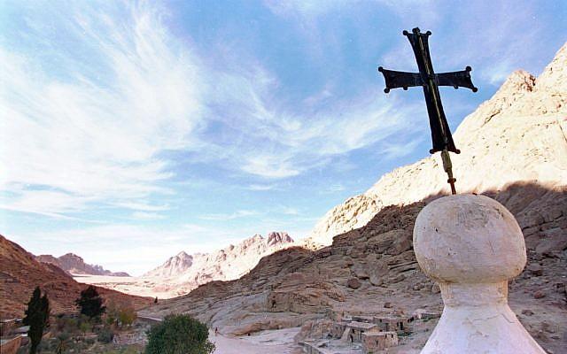The Greek Orthodox Monastery of St. Catherine in the Sinai peninsula. (photo credit: AP file photo/Enric Marti)
