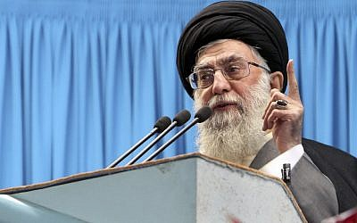 Iranian supreme leader Ayatollah Ali Khamenei (photo credit: AP/Office of the Iranian Supreme Leader)