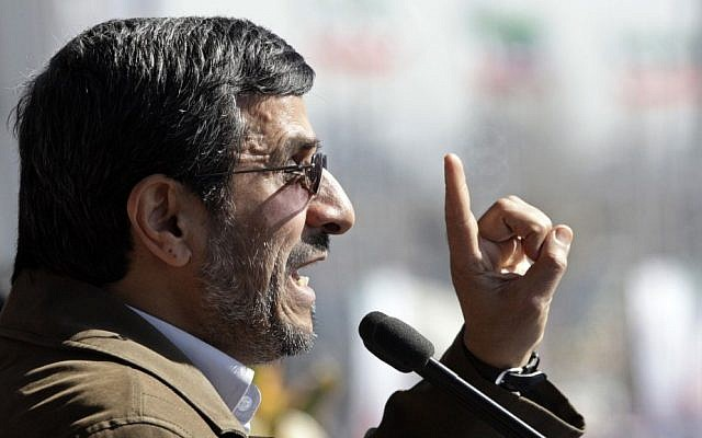 Iranian President Mahmoud Ahmadinejad (photo credit: AP/Vahid Salemi)