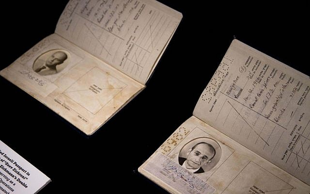 A forged Israeli passport used to smuggle Eichmann out of Argentina (photo credit: AP/Dan Balilty)