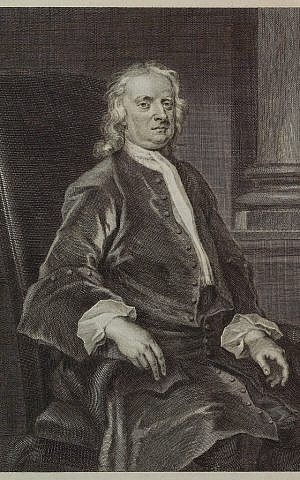 An engraving of Isaac Newton based on a 1726 painting by John Vanderbank. (photo credit: AP/NY Public Library, File)