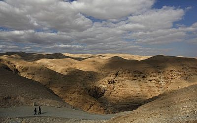 The Judean Desert near St. George Monastery, outside Jerusalem.  (photo credit: AP/Dusan Vranic)