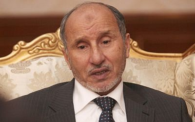 Libyan leader Mustafa Abdul-Jalil told the AP in Tripoli on Tuesday that his transitional government was powerless to control militias that are refusing to lay down their arms after ousting Muammar Gaddafi. (photo credit: AP/Abdel Magid al-Fergany)