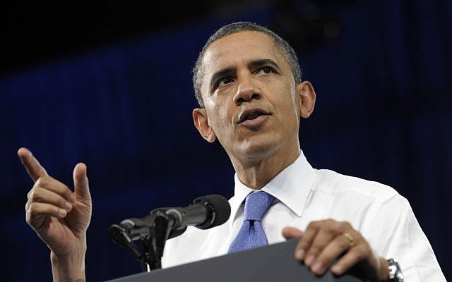 US President Barack Obama (photo credit: Susan Walsh/AP)