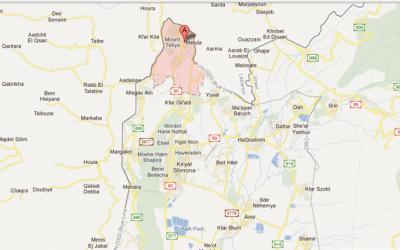 Map of the Metulla area at the Israeli-Lebanese border (photo credit: screenshot, google maps)