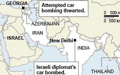 Terror threats to Israeli targets worldwide (AP graphic)