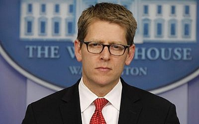 White House press secretary Jay Carney. (photo credit: AP Photo/Pablo Martinez Monsivais)