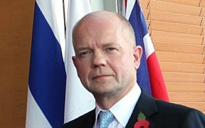 British Foreign Secretary William Hague (photo credit: Yossi Zamir/Flash 90)