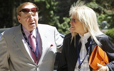 Sheldon Adelson and his wife, Miriam Ochshorn (photo credit: Miriam Alster/File/Flash90)