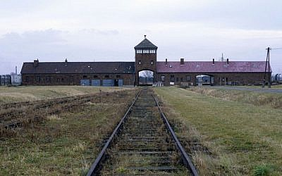 Railway tracks lead to the Auschwitz concentration camp in Poland (photo credit: Serge Attal/Flash90)