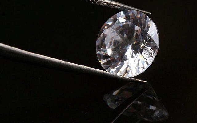 Illustrative photo of a diamond, up close (photo credit: Nati Shohat/Flash90)