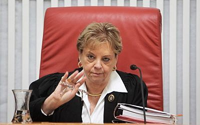 Former Supreme Court president Dorit Beinisch (photo credit: Miriam Alster/Flash90)