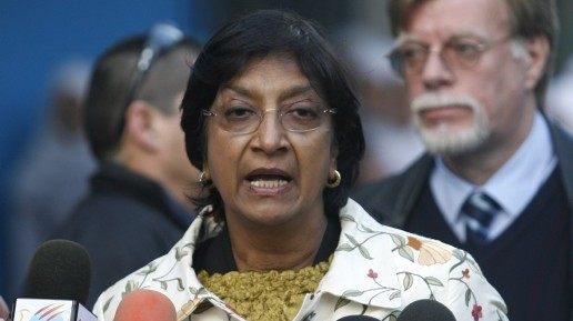 United Nations High Commissioner for Human Rights Navanethem Pillay, plans to address the UN on the ongoing crisis in Syria. (photo credit: Wissam Nassar flash90)