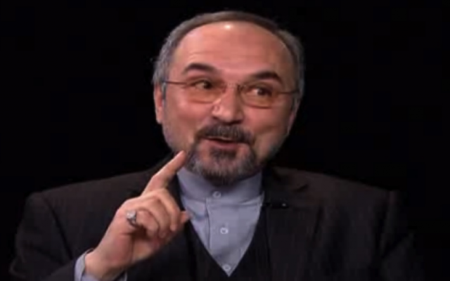 Iran's ambassador to the UN, Mohammad Khazaee (photo credit: screen capture YouTube/CBS/File)