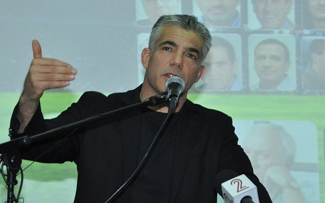Yair Lapid speaking at the MIT Enterprise Forum, February 21, 2012. (photo credit: Bar Haim, Courtesy MIT Enterprise Forum)