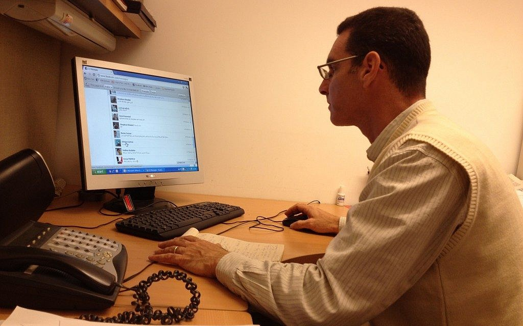 The Foreign Ministry's Lior Ben Dor in his Jerusalem office (photo credit: Raphael Ahren/The Times of Israel)