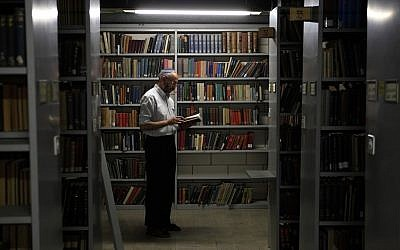 In the stacks of the National Library (photo credit: Yaakov Naumi/Flash90)