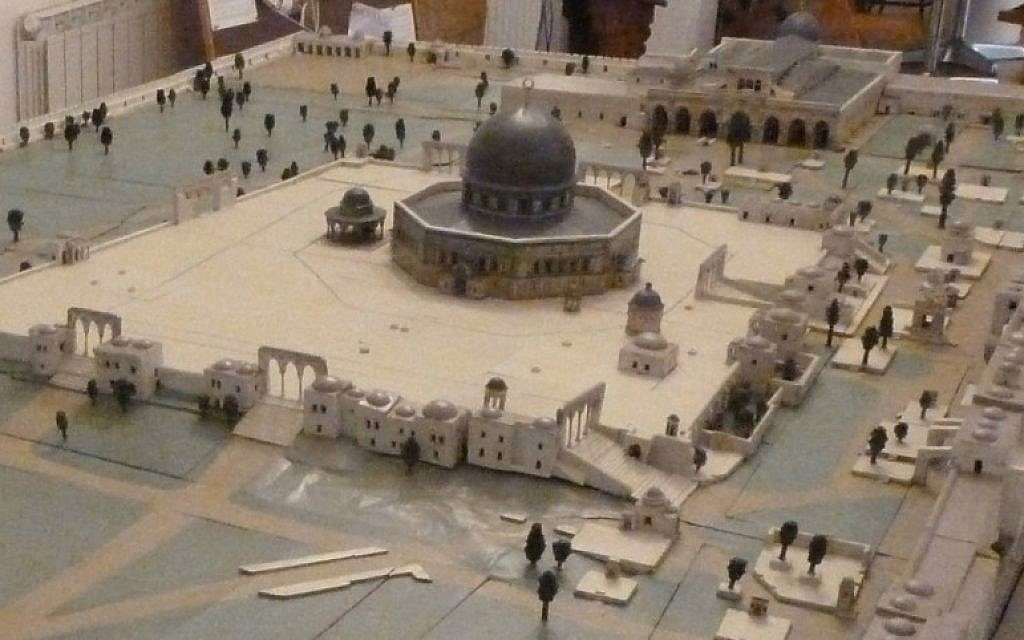 Conrad Schick's Temple Mount model, made for display at the 1873 World Fair. (Photo courtesy of Shimon Gibson)