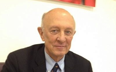 Former CIA head James Woolsey (photo credit: Raphael Ahren/The Times of Israel)