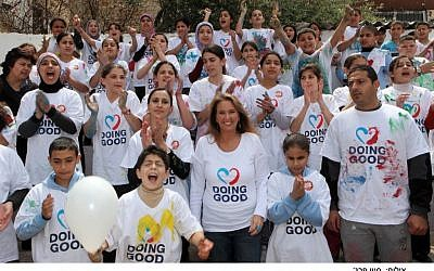 Shari Arison participating in 2011's International Good Deeds Day. (Photo credit: Sivan Farag)