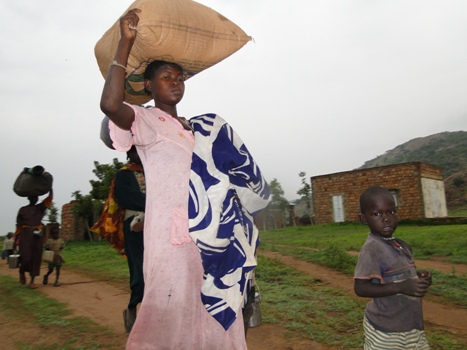 Sudanese villagers escape government attacks in South Kordofan (photo credit: courtesy)