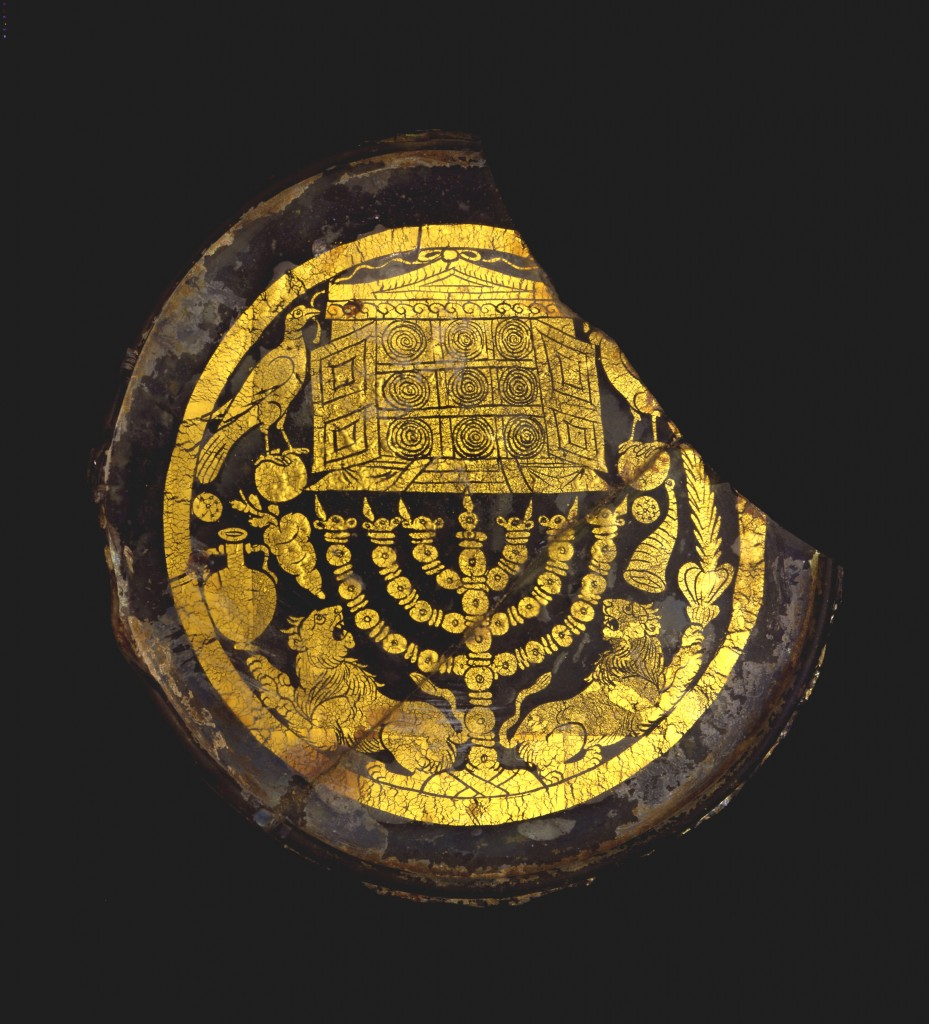 The disc is one of the first objects found outside Israel with motifs linked to the Temple in Jerusalem. (photo credit: Israel Museum, photo by David Harris)