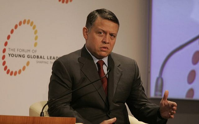Jordan's King Abdullah II (photo credit: CC BY-SA World Economic Forum, Flickr)
