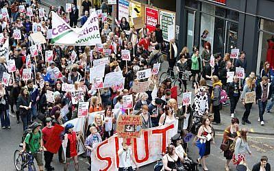 Manchester 'Slutwalk' 2011 (photo credit: CC-BY Man Alive!, Flickr)