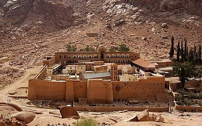 The kidnapped Brazilian women were traveling near St. Catherine's Monastery in Sinai, Egypt. (photo credit: CC-BY-SA Berthold Werner, Wikimedia Commons)