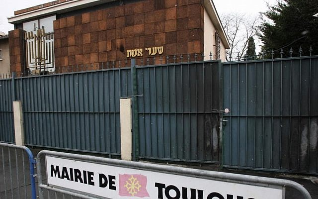 A synagogue in Toulouse (photo credit: AP/Manuel Blondeau)