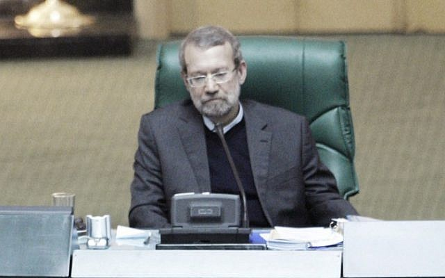 Iranian Parliament Speaker Ali Larijani (photo credit: AP/Vahid Salemi)