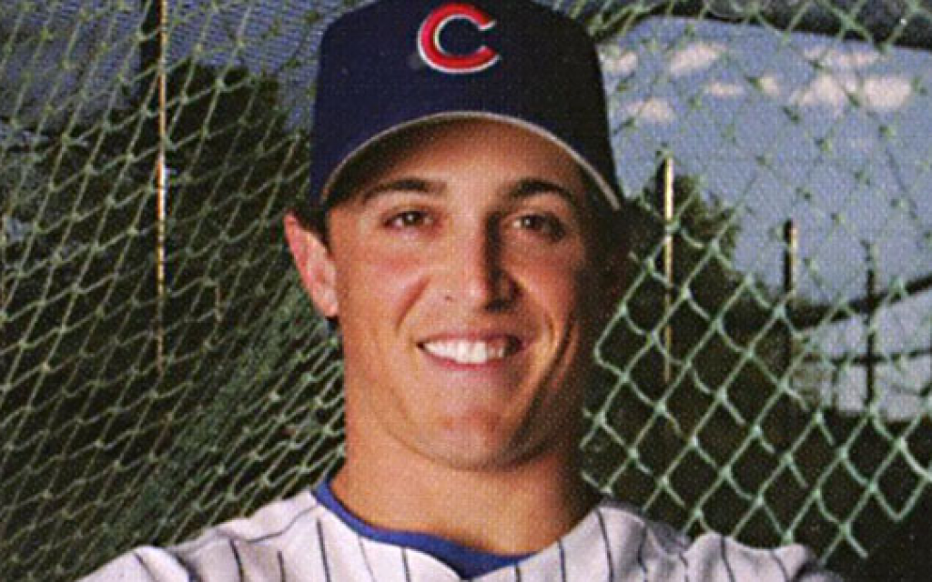 Adam Greenberg, who was hit in the head in his first and only Major League plate appearance with the Chicago Cubs in 2005, is one of more than 140 Jewish Major Leaguers. (photo credit: 'Jewish Major Leaguers'/via JTA)