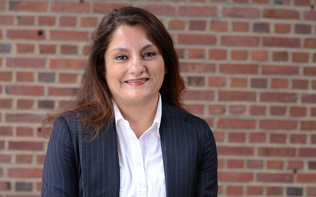 Mehnaz Afridi, director of Holocaust studies at New York's Manhattan College. (Photo credit: Courtesy)