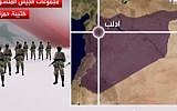 Al-Arabiya displays layout of Syrian opposition forces (photo credit: Al-Arabiya)