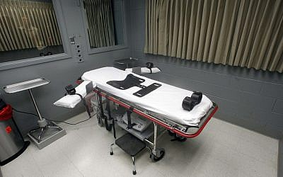 The execution room at the Oregon State Penitentiary, in Salem, Oregon (photo credit: AP/Rick Bowmer)