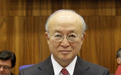Director General of the International Atomic Energy Agency Yukiya Amano. (photo credit: Ronald Zak/AP)