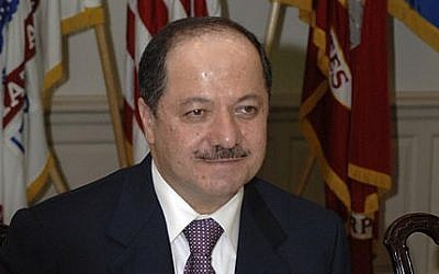 Kurdish President Masoud Barazani (photo credit: Helene C. Stikkel/Wikimedia Commons)