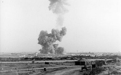 The explosion at the Marine barracks in Beirut in 1983. (photo credit: US Marines, Wikimedia Commons)
