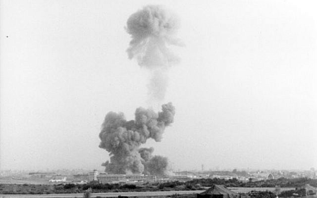 The explosion at the Marine barracks in Beirut in 1983. 241 US Marines were killed along with58 French peacekeepers and 6 civilians. (US Marines, Wikimedia Commons)