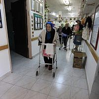 Illustrative photo of elderly residents in  a nursing home. (Tsafrir Abayov/Flash90)