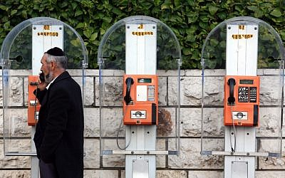 Talking 24/7? Special telephones kosher for use on Shabbat have been unveiled. (photo credit: Nati Shohat/Flash90)