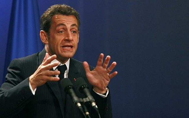 French President Nicolas Sarkozy in Jerusalem in 2008 (photo credit: Olivier Fitoussi /Flash90)